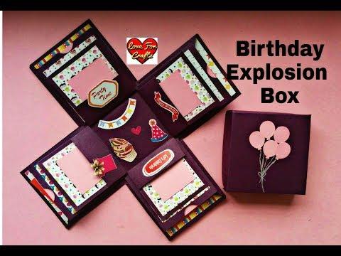 Birthday Explosion Box | DIY Explosion Box | How to Make