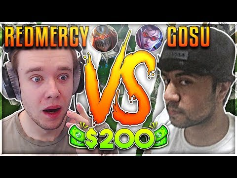 REDMERCY VS HI IM GOSU!! $200 1v1 SHOWDOWN!! Season 2 - League of Legends
