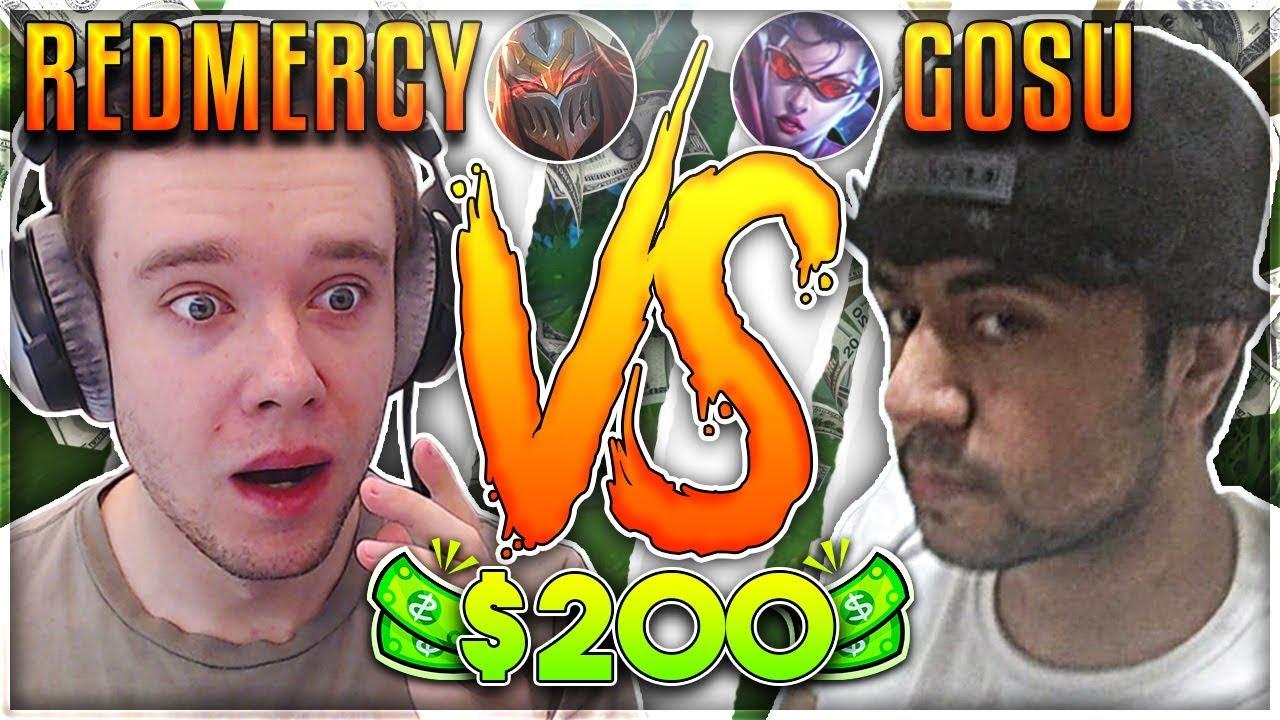 REDMERCY VS HI IM GOSU!! $200 1v1 SHOWDOWN!! Season 2 - League of Legends