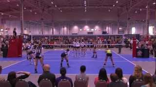 2012 Canadian Open Volleyball Championships - 18U Girls - Defensa v. CWDinos Red
