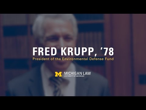 Fred Krupp, '78: President of the Environmental Defense Fund