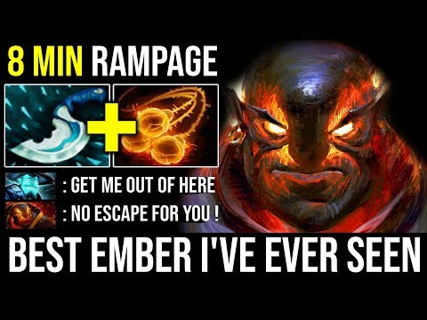 Best Ember Spammer I've Ever Seen | WTF 8Min Rampage + 100% Juke Deleted Storm with Zero Death DotA2