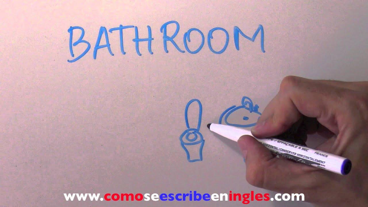 Cómo se escribe en inglés CUARTO DE BAÑO - YouTube