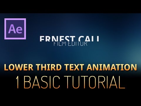 After Effects Tutorial - lower third text animation (very basic)