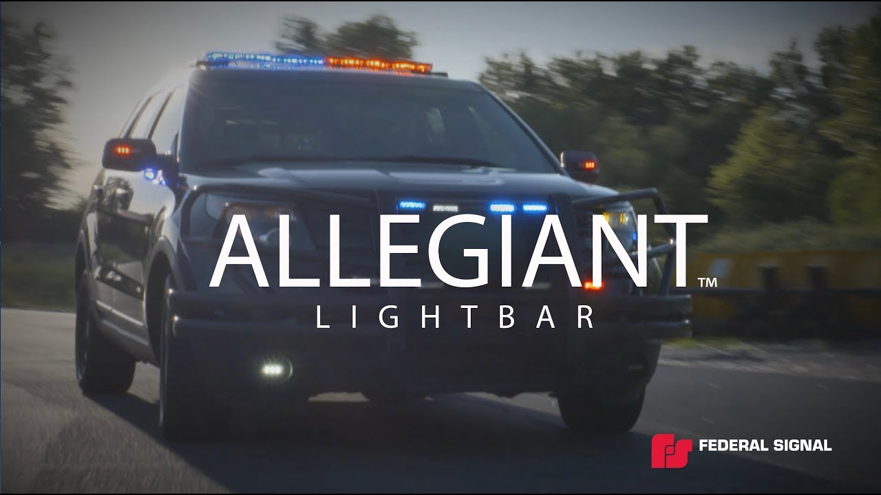 federal signal allegiant light bar 45 or 53 inch model optional interface module available [ 1280 x 720 Pixel ]
