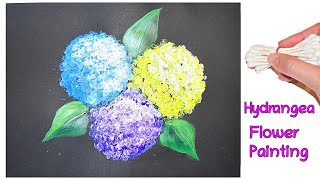 Q-Tip Cotton Swab Hydrangea Flowers Painting for Beginners Tutorial - Step by Step
