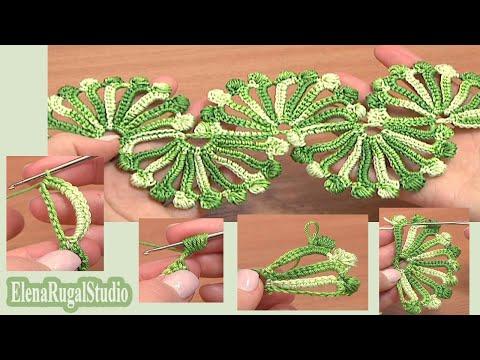 Double Sided Large Shells Crochet Lace Tutorial 10 Crochet