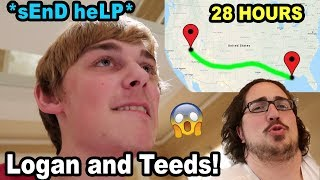 28-HOUR CAR DRIVE ACROSS THE COUNTRY!! (Logan and Teeds)