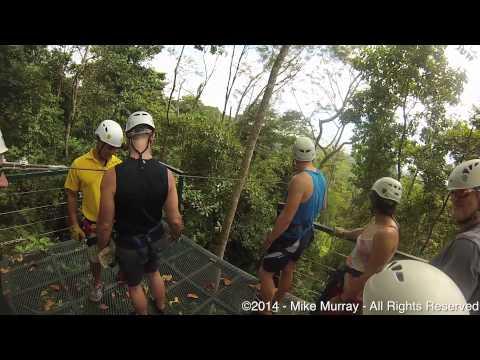 Zip Lining in Costa Rica (GoPro Unedited)