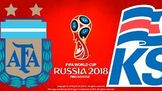 Argentina vs. iceland | fifa world cup russia 2018 | pes 2018