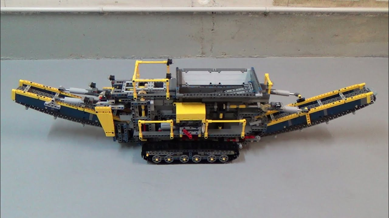 Lego Technic 42055 Bucket Wheel Excavator C Model Moc Rc Aggregate Processing Plant Youtube
