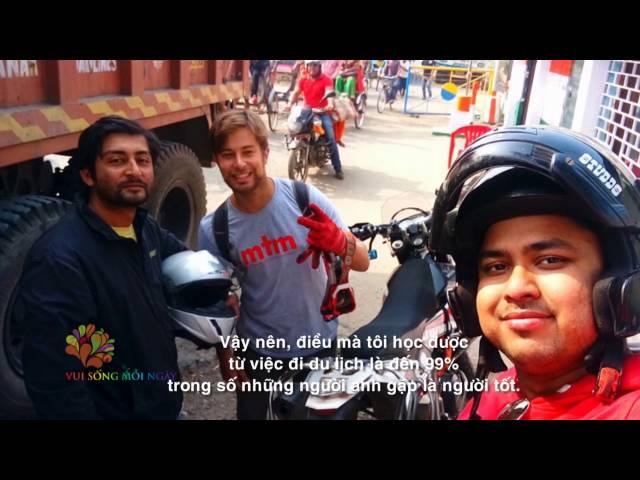Du lịch quanh thế giới bằng mô tô địa hình cùng David Krezt - Vui Sống Mỗi Ngày [VTV3 – 11.08.2016]
