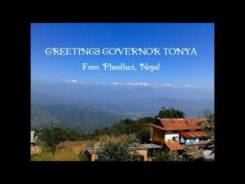 Governor Tonya, Hello from Nepal!