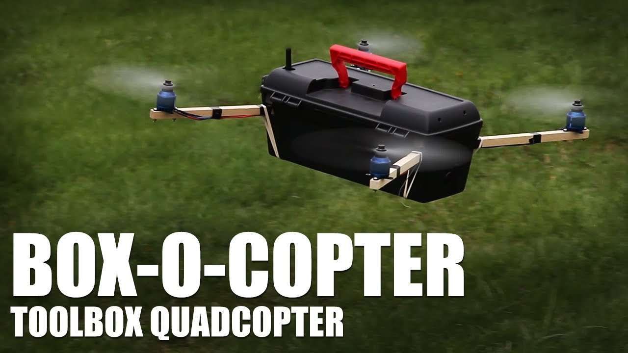 Flite Test - Box-O-Copter (toolbox quadcopter) - YouTube