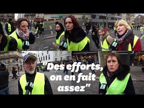 Des gilets jaunes répondent à Macron sur le 'sens de l'effort'