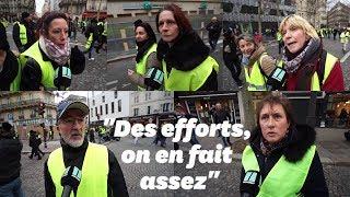 """Des gilets jaunes répondent à Macron sur le """"sens de l'effort"""""""