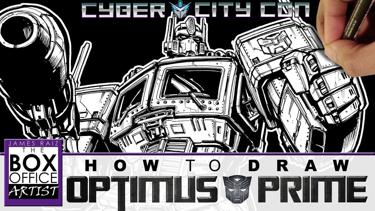 HOW TO DRAW TRANSFORMERS OPTIMUS PRIME