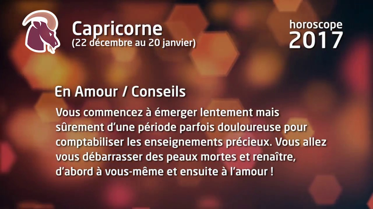 horoscope 2017 du capricorne mise jour du 16 01 2017 youtube. Black Bedroom Furniture Sets. Home Design Ideas