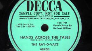 The Ray O Vacs-  Hands Across The Table