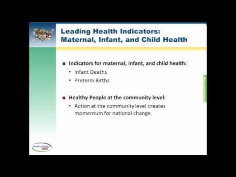 Leading Health Indicators Webinar: Maternal, Infant, and Child Health (Part 1 of 6)