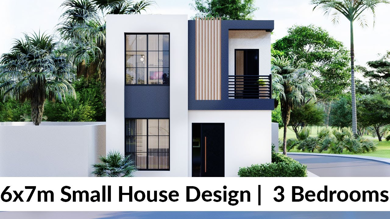 Download (6x7 Meters) Small House Design Idea with 3 Bedrooms (Layout #2)
