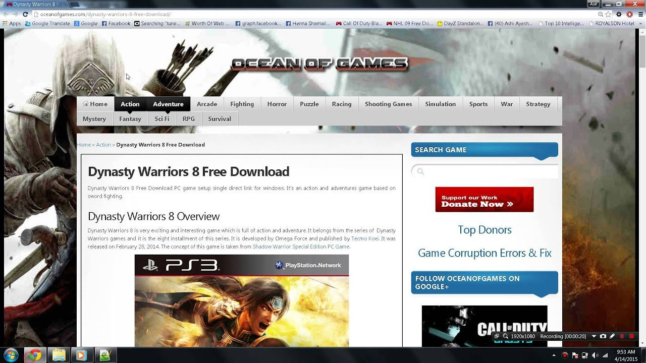 Tutorial download and Install Dynasty Warriors 8