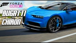 Forza Horizon 3 BUGATTI CHIRON TOP SPEED