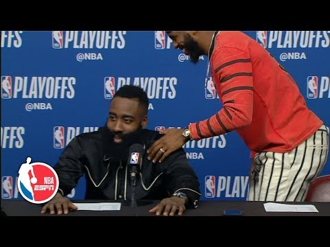 Chris Paul exits press conference after James Harden is asked every question | ESPN