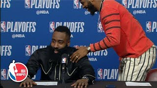 Chris Paul exits press conference after James Harden is asked every question | 2019 NBA Playoffs