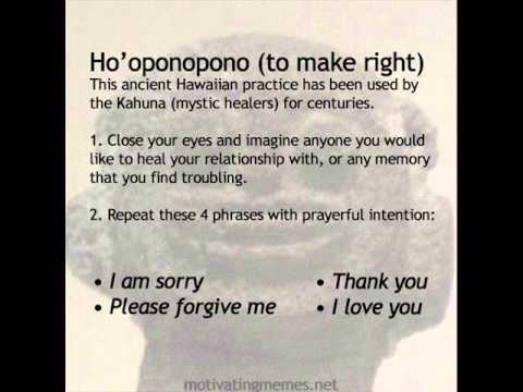 Hoponopono (ancient hawaiian healing method)