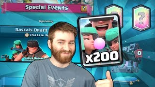 NEW RASCAL DRAFT CHALLENGE! RASCALS OP OR BAD?! | Clash Royale FINAL WAR DAY BATTLES GAMEPLAY!