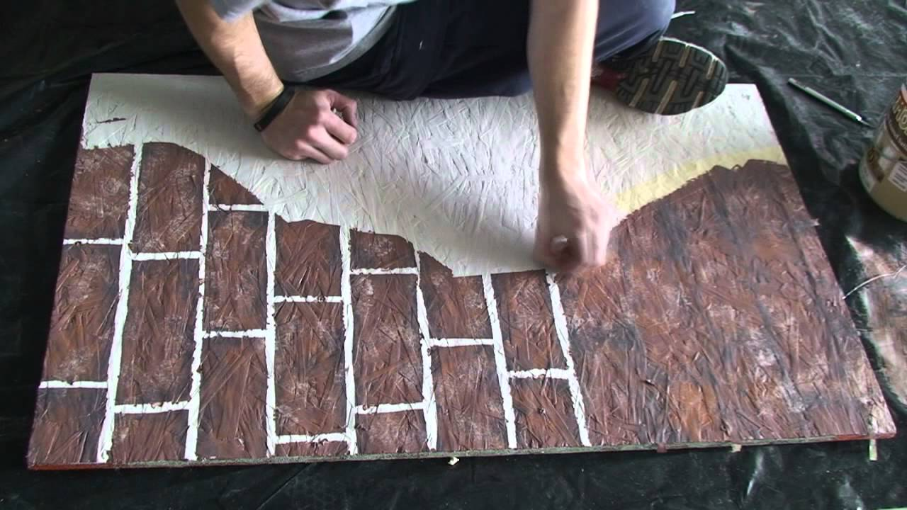 Painting fake brick and plaster walls YouTube