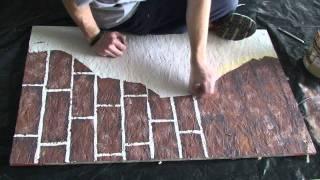 Painting fake brick and plaster walls