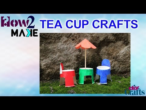 How to make Disposable Tea Cups Craft with used cups || Diy Crafts