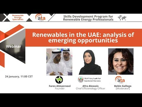 Webinar: Renewables in the UAE: analysis of emerging opportunities