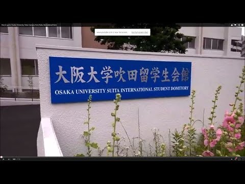 How to go to Osaka University Suita Campus from Suita International Dorm