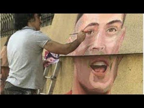 Xhaka ka adhurues edhe në Iran, pikturojnë portretin e tij në një mur para ambasadës zvicerane