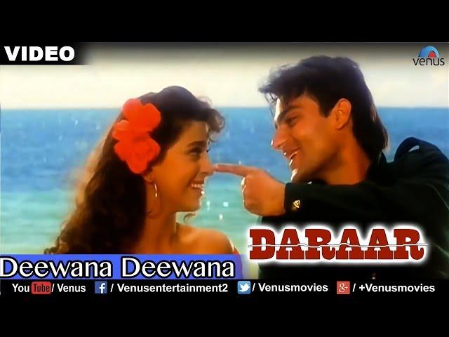 Deewana Deewana Full Video Song : Daraar   Rishi Kapoor, Juhi Chawla, Arbaaz Khan  