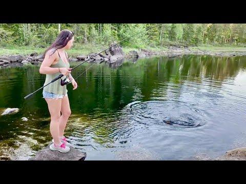 Norwegian Girl, Henriette Fishing Pike.