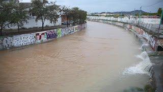 Fuertes lluvias y anegaciones en Málaga