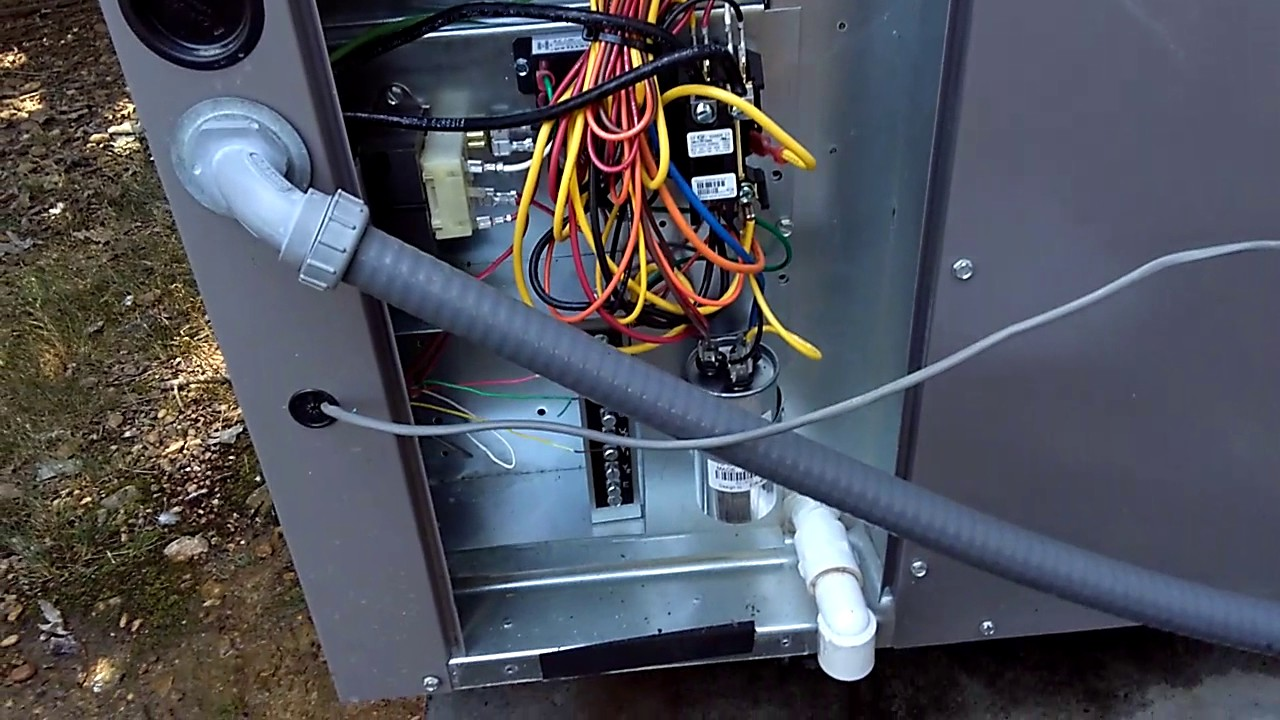 revolv coleman frigidaire mobile home trailer a c central package unit install by homeowner [ 1280 x 720 Pixel ]