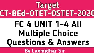 FC 4 UNIT 1-4 All Multiple Choice Questions & Answers