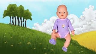 Обувь для куклы Baby Born - вязаные пинетки. Одеваем Беби Бона #21.