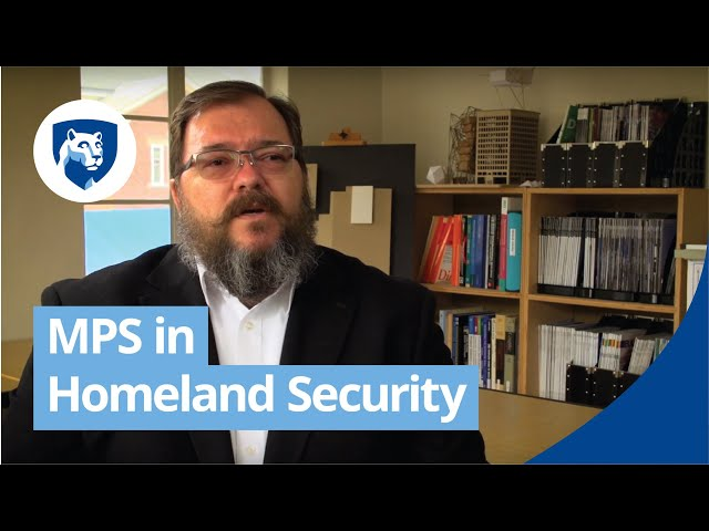 Watch Homeland Security Master's Degree Programs Online on YouTube.