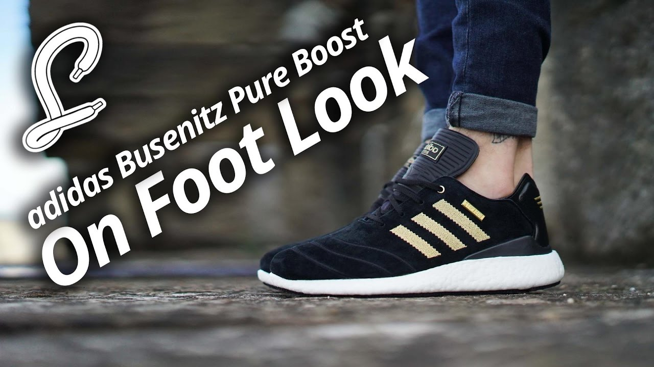 adidas Busenitz Pure Boost On Foot Video  e471b5d3d