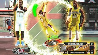 99 OVR ZION WILLIAMSON vs 99 OVR LEBRON JAMES at the PARK in NBA2K20