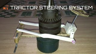 How to make tractor steering system from pvc