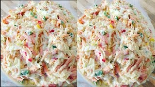 Christmas Coleslaw With Honey Simple & Amazing Coleslaw | Recipes By Chef Ricardo