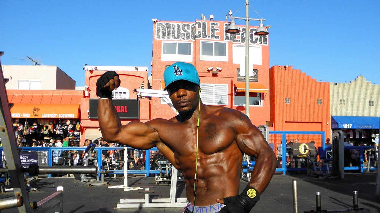 Venice Beach In Los Angeles Muscle