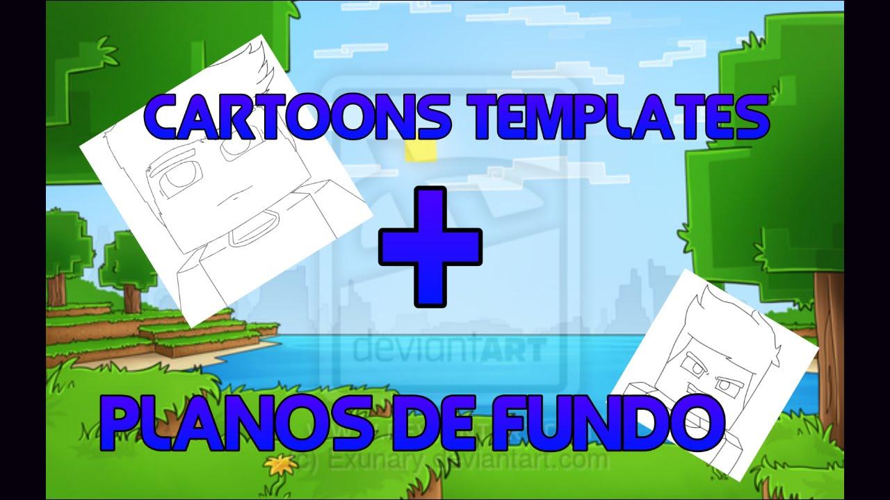 Plano De Fundo Minecraft: Pack De Cartoons Templates + Planos De Fundo